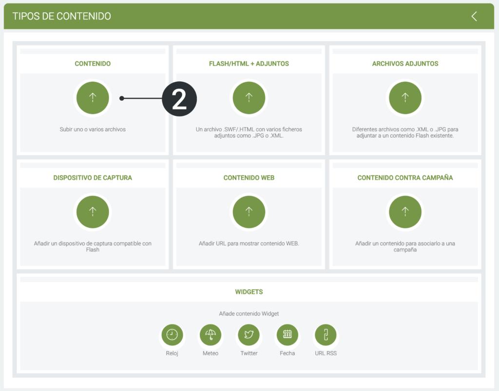 Sube y gestiona tus primeros contenidos - Tipos de contenido